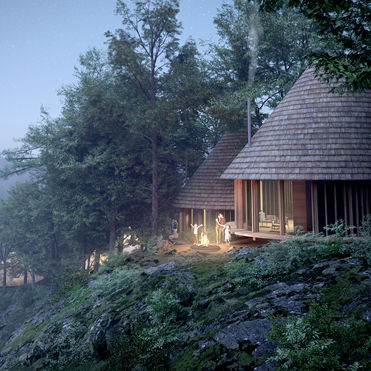 This campsite brings Nordic hygge to Japan
