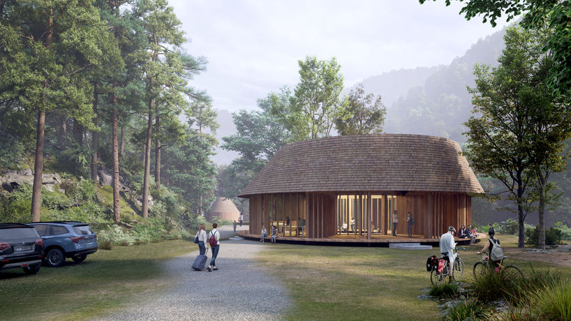 Arriving at the Center House by Third Nature, Structured Environment and Henrik Innovation
