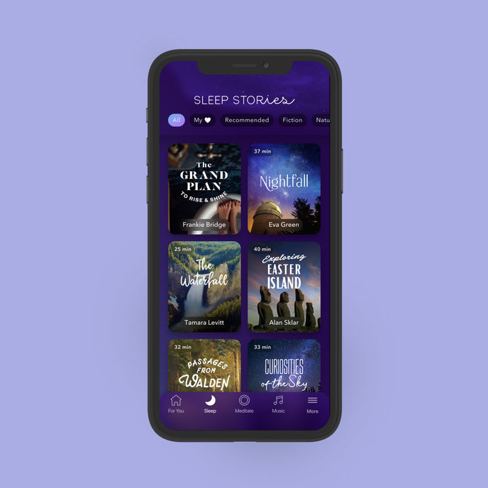 Sleep Stories and A World of Calm by Calm in partnership with HBO, US