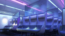 Aircraft interiors that play on colour psychology