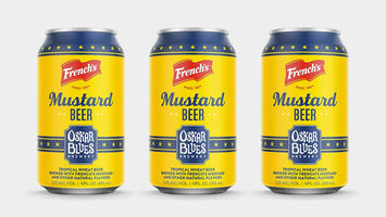Tropical wheat beer gets a mustard kick