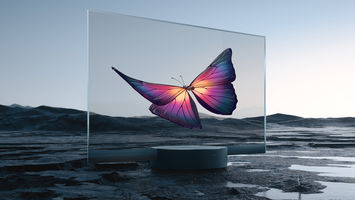 This transparent tv embodies discreet tech