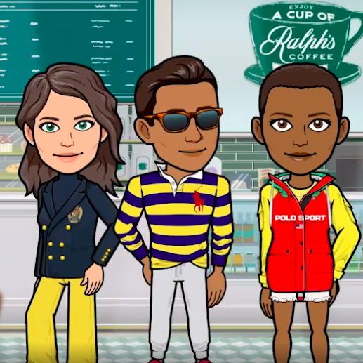 Ralph Lauren in collaboration with Snapchat and Bitmoji, US