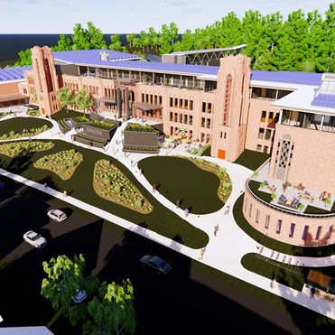 This abandoned high school is becoming an eco-village