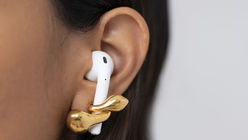 These earrings are designed to keep AirPods in place