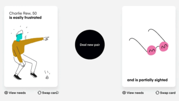 A card game that inspires inclusive design