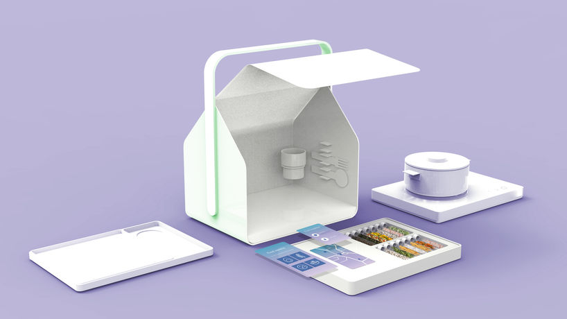 Jisum Kim has designed a portable cooking kit that is tailored to an individual's health needs