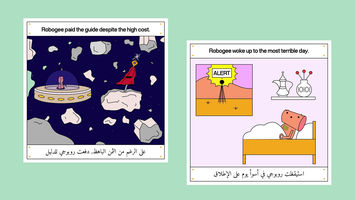 An Instagram comic that tells the stories of refugee youth