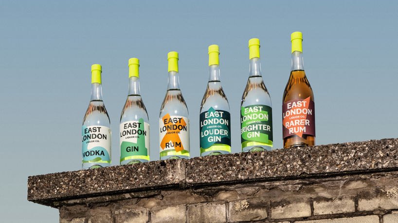 East London Liquor Co rebranding by Ragged Edge, UK