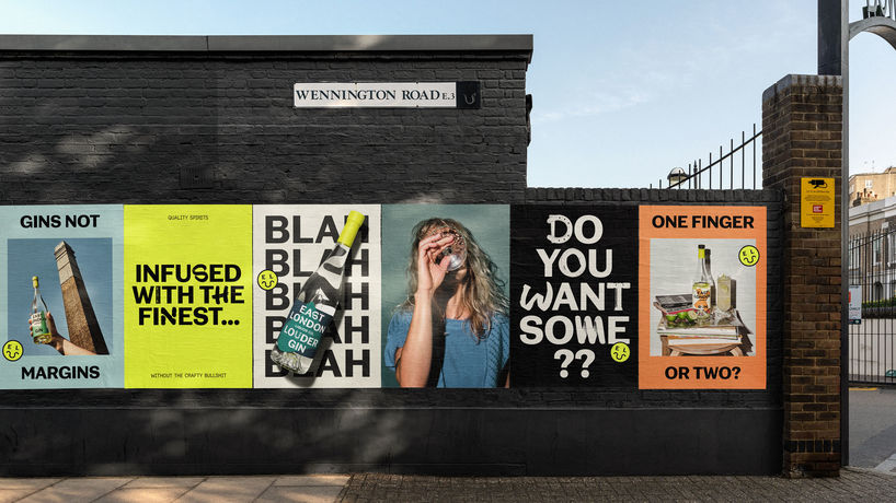 East London Liquor Co rebranding by Ragged Edge, UK