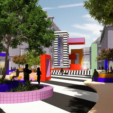 Camille Walala imagines a colourful and car-free city