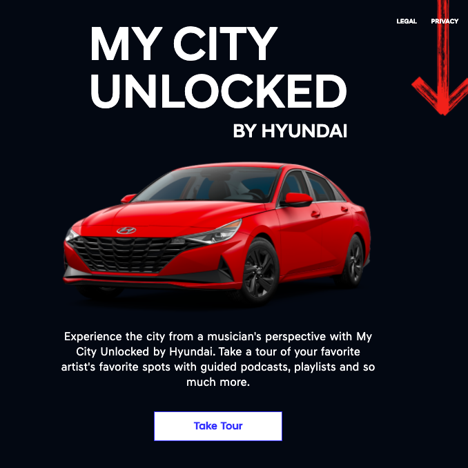 My City Unlocked by Hyundai in collaboration with Spotify, US