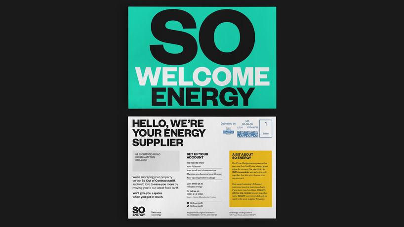 So Energy branding by Studio Blackburn, UK
