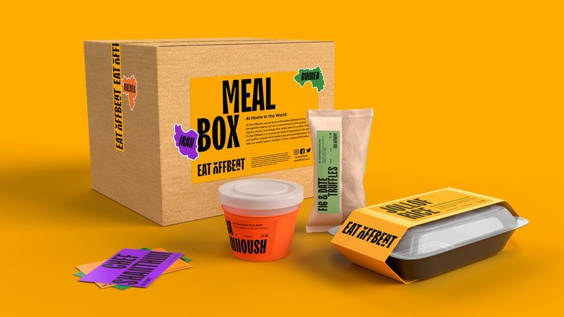 Eat Offbeat identity by Pentagram