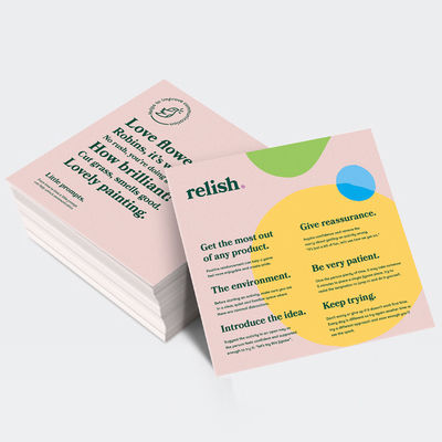 Relish re-bebrand by Design Agency (ODA), London