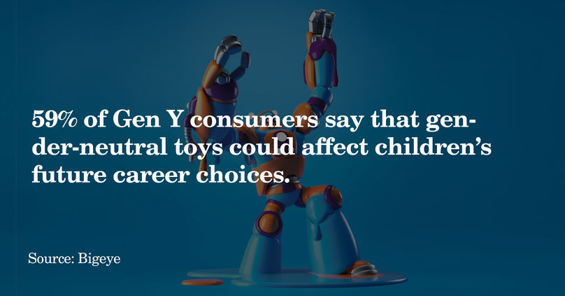 The Gender Beyond the Binary report by marketing agency Bigeye highlights generational discrepancies in the effects of gendered toys on children's future career ambitions.