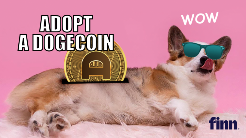 AdoptaDogecoin by Finn and Ogilvy Social.Lab