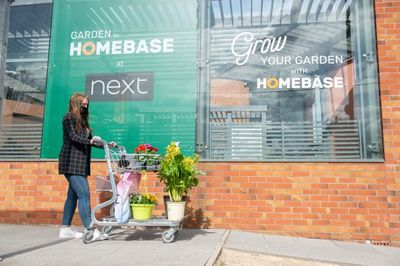 Homebase garden centre at Next, London
