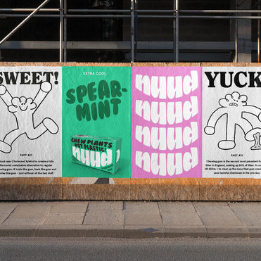 Nuud chewing gum is bold about responsibility