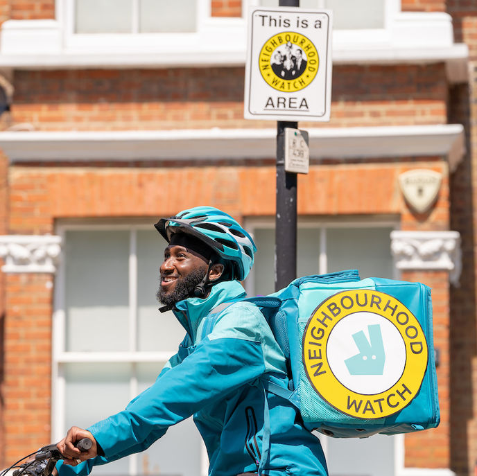 Deliveroo in collaboration with Neighbourhood Watch, UK