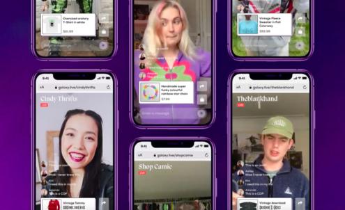 Galaxy's live-stream app animates fashion resale