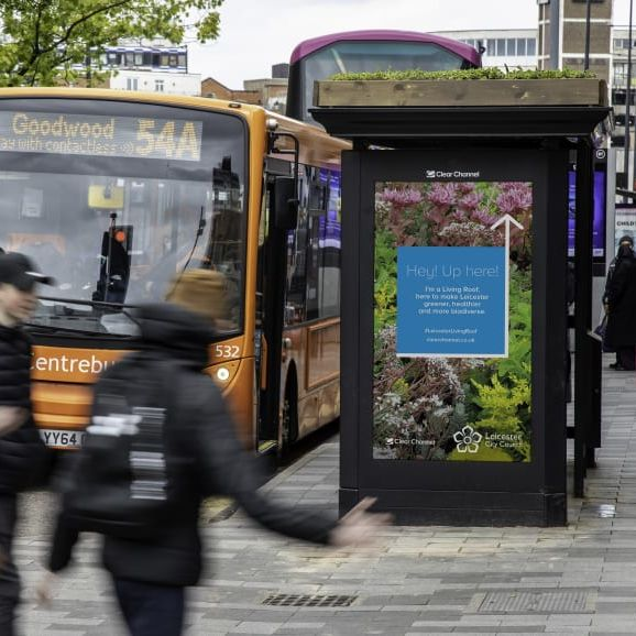 Bee Bus Stops by Clear Channel & Leicester City Council