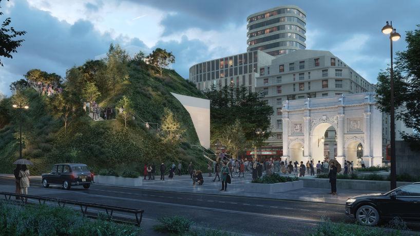 Marble Arch Mound by MVRDV, London