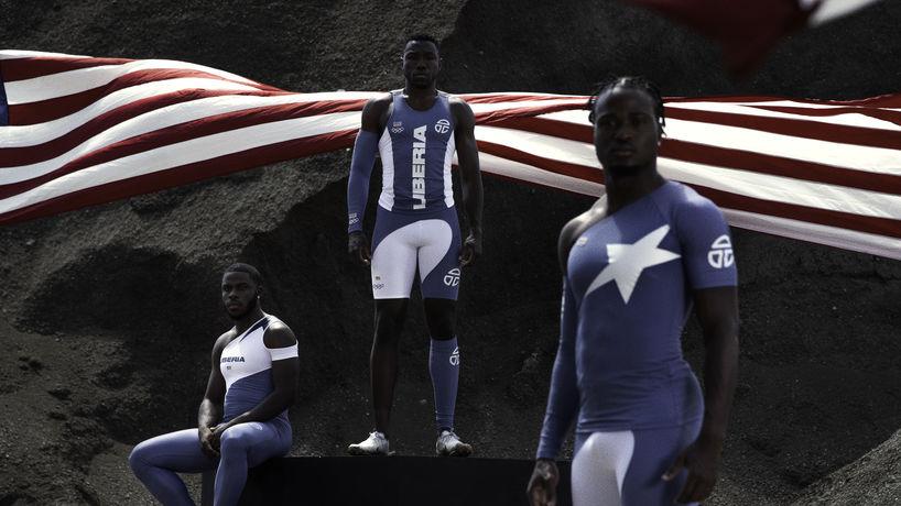 Liberian Tokyo 2021 Olympics kit. Designed by Telfar