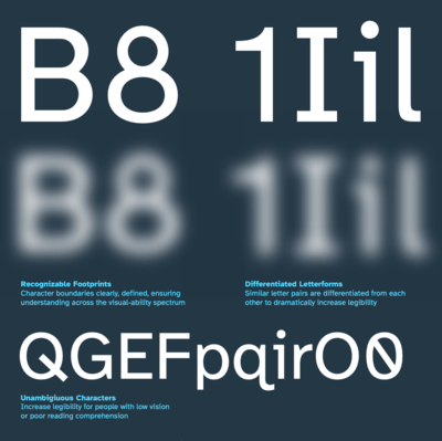 Atkinson Hyperlegible Font by the Braille Institute