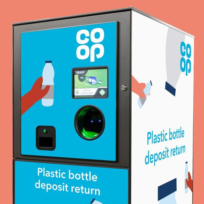 Co-op reverse vending machine, UK
