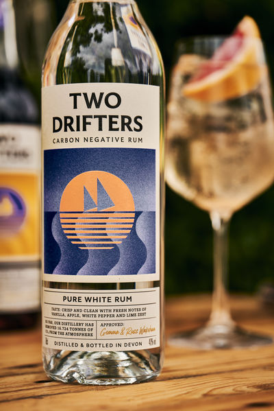 Two Drifters identity by Here Design