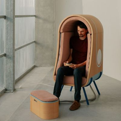The Oto armchair by Alexia Audrain, Nantes
