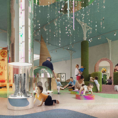 The pre-walker and toddler zone of the Play Gallery. Image by Picture Plane © Victoria and Albert Museum, London