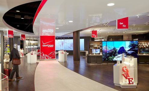 Verizon Wireless store features experiential pods