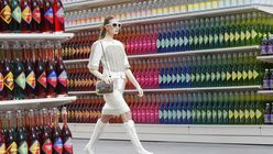 Model shoppers: Chanel show offers supermarket chic