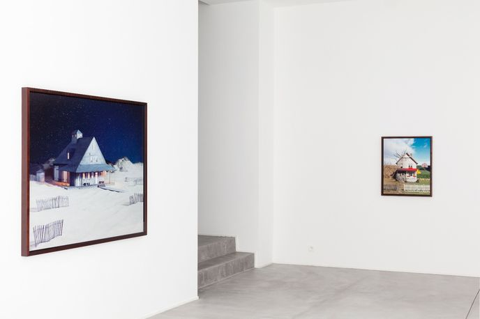 James Casebere's  work on display at the Galerie Daniel Templon