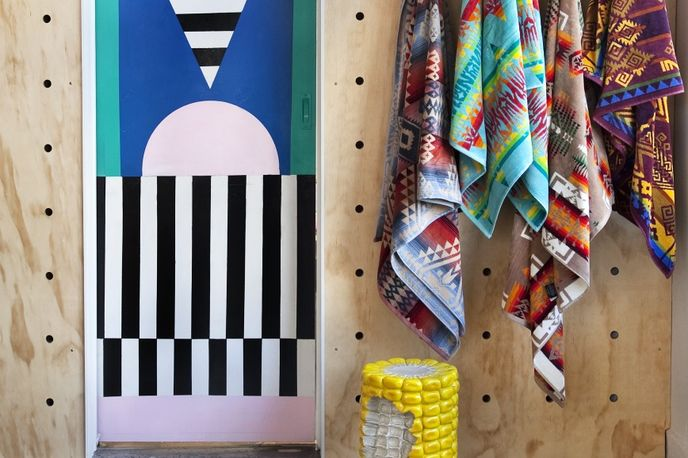 Third Drawer Down Museum of Art Souvenirs storefront by Camille Walala