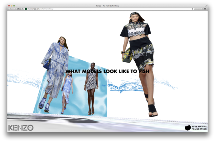 Kenzo No Fish Microsite by OK Focus