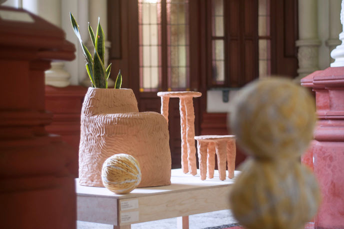 Terracotta Furniture by Chris Wolston for Sight Unseen OFFSITE