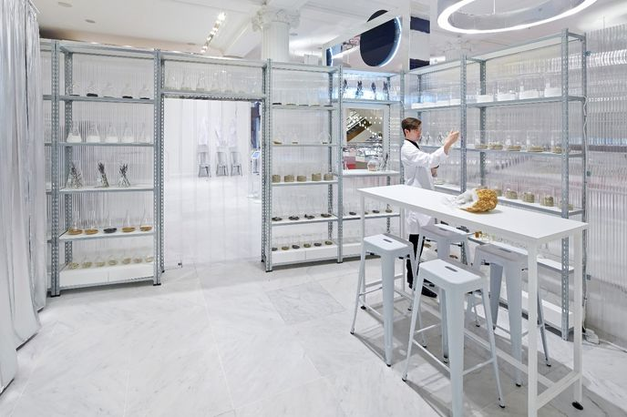 Fragrance Lab by Campaign, The Future Laboratory and Givaudan for Selfridges. Photography by Hufton and Crow