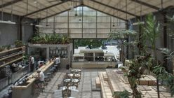 Indoor out: Restaurant is a concrete oasis