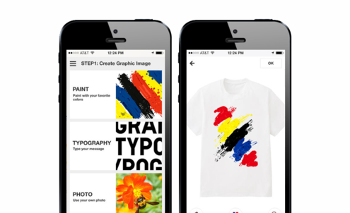 Uniqlo app lets customers design their own T-shirts