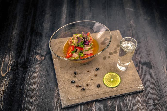 Black Ant Ceviche at The Black Ant, New York; Photography by Prince Rumi