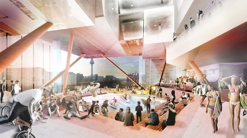 concept for a new mall, Volt in Berlin, by J Mayer H