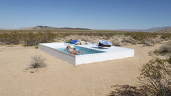 Private oasis: Pool in the desert encourages reflection