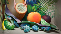 Cream of the crop: Painterly props form a fruitful display
