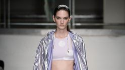 Shining light: British designer puts fitness first at London Fashion Week
