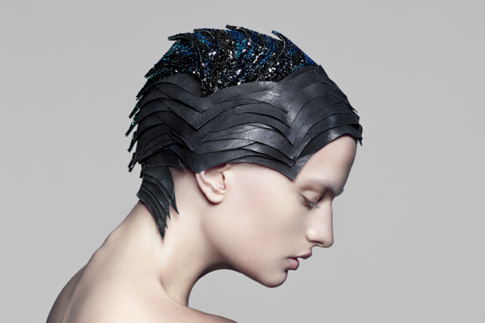 Mind-reading headset made from Swarovski Spinel stones by The Unseen