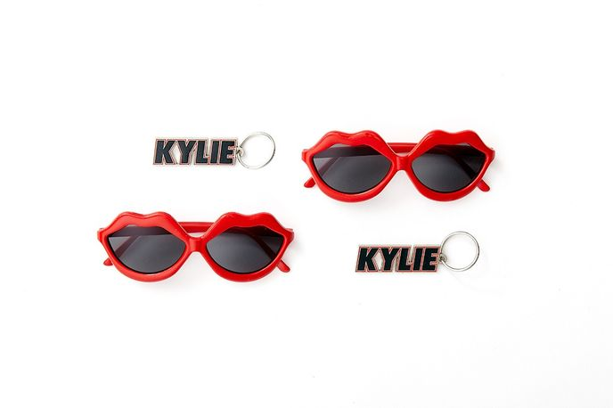 "Kylie Minogue tour merchandise by creative agency Chandelier Creative for her 2014 ""Kiss Me Once"" Tour"