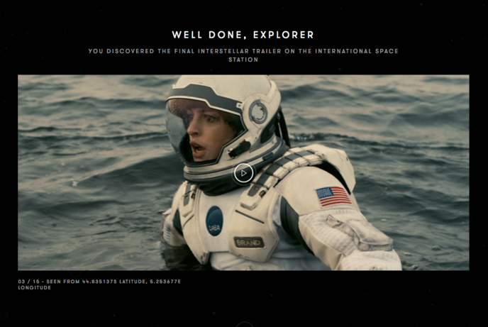 Interstellar, by Christopher Nolan